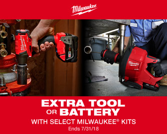EXTRA TOOL OR BATTERY WITH SELECT MILWAUKEE KITS