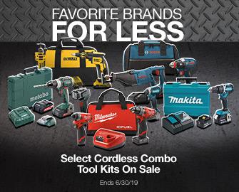 Select Cordless Combo Tool Kits On Sale
