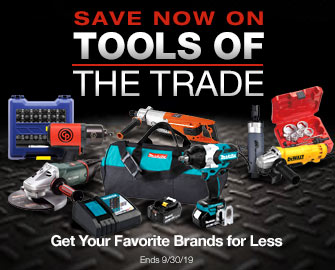 SAVE NOW ON TOOLS OF THE TRADE - Get Your Favorite Brands for Less - Offer ends September 30, 2019