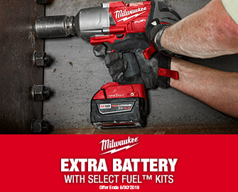 Extra Battery with Select Milwaukee Fuel Kits
