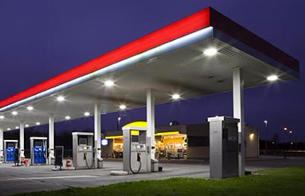 Retrofitting Gas Station Lights For Energy Savings
