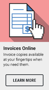 Invoice copies available at your fingertips when you need them